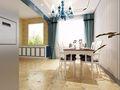 80平米公寓地中海风格餐厅图片