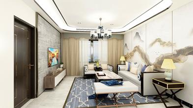 富裕型90平米欧式风格客厅装修案例