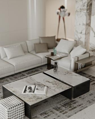 富裕型140平米四室四厅现代简约风格客厅设计图