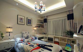 富裕型110平米三室两厅地中海风格卧室效果图