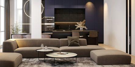 豪华型120平米四室两厅现代简约风格客厅设计图