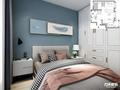 经济型100平米三室两厅英伦风格卧室图片大全