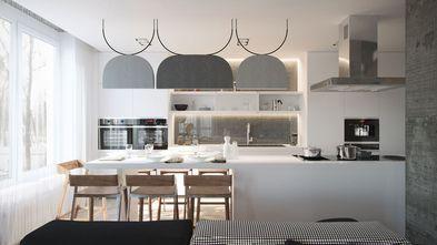 经济型110平米三室两厅工业风风格厨房图