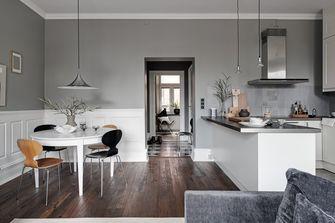 富裕型120平米三室两厅现代简约风格餐厅效果图