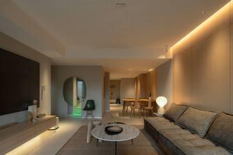 富裕型130平米三室两厅日式风格客厅图片大全