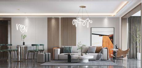 130平米四轻奢风格客厅设计图