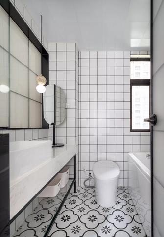 经济型110平米三室两厅北欧风格卫生间装修案例