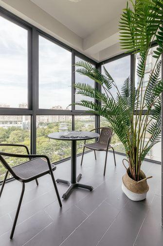 经济型100平米三室两厅北欧风格阳台欣赏图