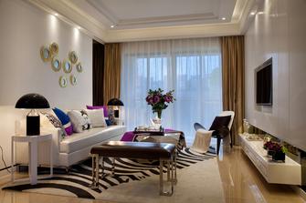 5-10万80平米公寓欧式风格客厅效果图
