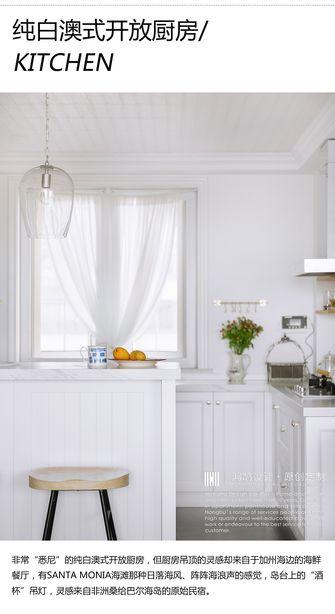 3万以下120平米三室一厅法式风格厨房欣赏图