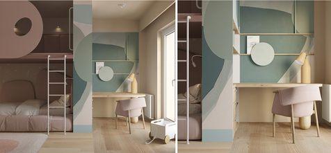20万以上130平米复式现代简约风格卧室设计图