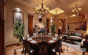 20万以上140平米四室三厅美式风格餐厅装修图片大全
