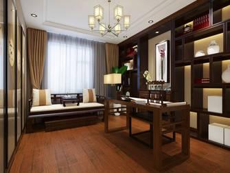 豪华型120平米三室一厅中式风格书房图片