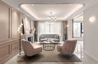 富裕型140平米三室两厅美式风格客厅效果图
