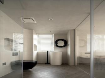 富裕型140平米三室两厅北欧风格卫生间图
