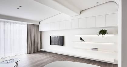 20万以上130平米三室两厅现代简约风格客厅图片