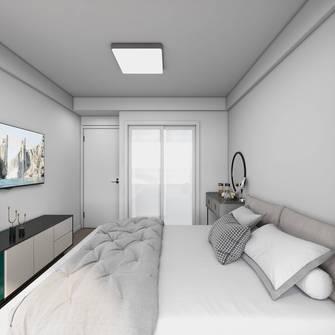 经济型60平米轻奢风格卧室装修图片大全
