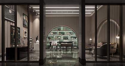 5-10万120平米美式风格书房装修案例
