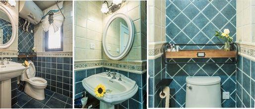 富裕型130平米三室两厅田园风格卫生间设计图