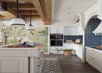 富裕型80平米一居室新古典风格厨房图
