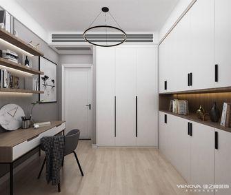 110平米三室一厅北欧风格书房设计图