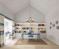 140平米复式欧式风格书房装修案例