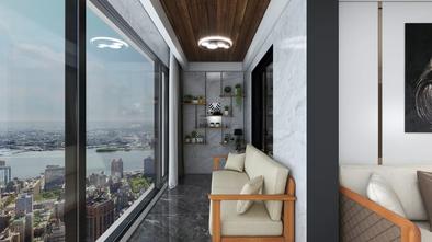 20万以上140平米四室三厅现代简约风格阳台装修效果图
