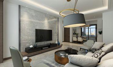 120平米三室一厅轻奢风格客厅图片