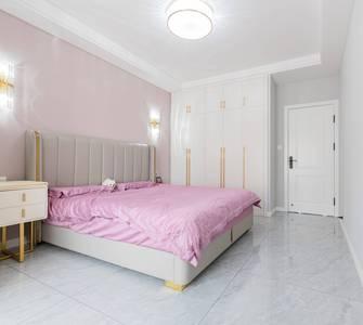 富裕型120平米三室一厅轻奢风格卧室装修案例