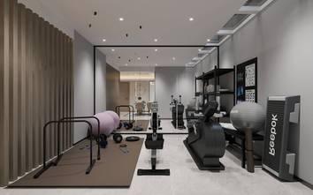 140平米四现代简约风格健身房图