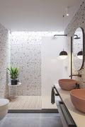 富裕型70平米一室两厅轻奢风格卫生间装修效果图
