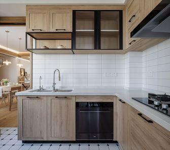 130平米三混搭风格厨房图