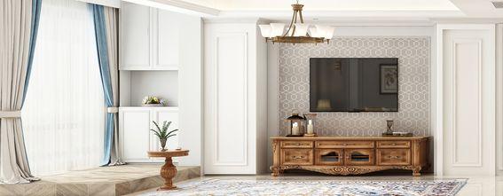 20万以上110平米三室一厅美式风格客厅装修图片大全