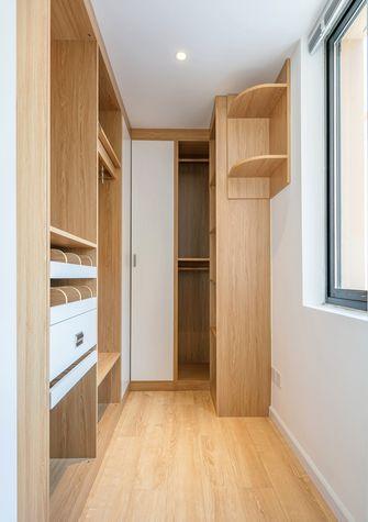 富裕型70平米三室两厅北欧风格衣帽间图