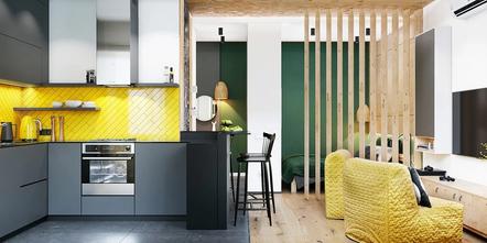 30平米小户型北欧风格客厅装修图片大全
