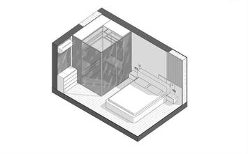 富裕型60平米现代简约风格卧室图片大全