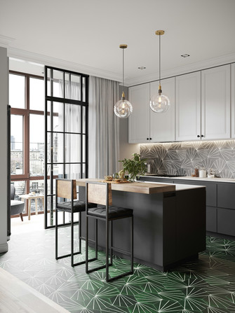 15-20万三室一厅欧式风格厨房装修效果图