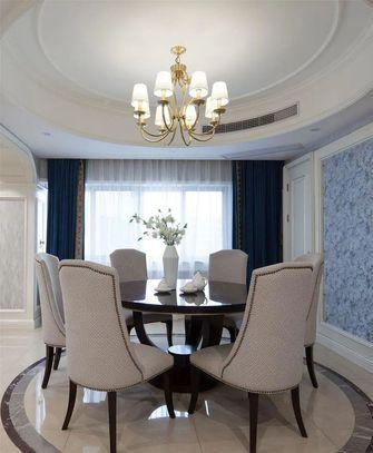 100平米三室一厅欧式风格餐厅装修效果图