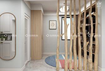 富裕型110平米三室两厅现代简约风格玄关装修图片大全