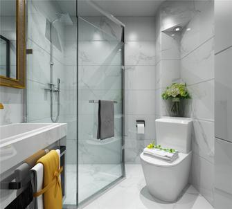 经济型100平米三室一厅法式风格卫生间图