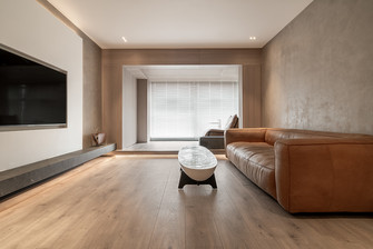 富裕型三室两厅现代简约风格客厅图片