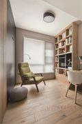 富裕型130平米三室一厅现代简约风格书房图
