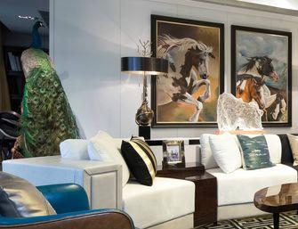 120平米三法式风格客厅装修效果图