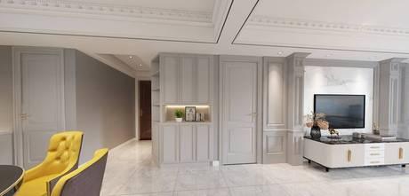 120平米四美式风格客厅欣赏图
