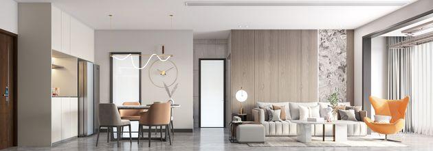 经济型120平米复式现代简约风格餐厅图片