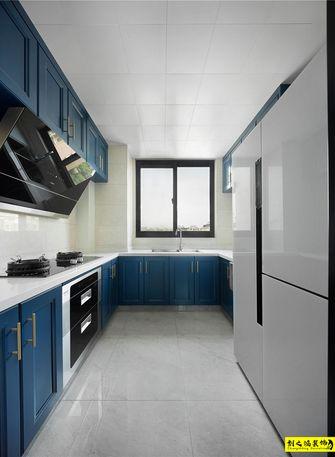经济型90平米三室一厅混搭风格厨房效果图