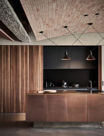 20万以上120平米四室两厅工业风风格厨房图片