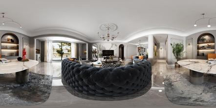 20万以上140平米四室两厅现代简约风格客厅装修案例