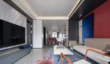 5-10万80平米混搭风格客厅装修图片大全