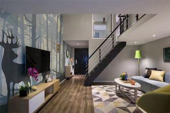 经济型50平米复式田园风格客厅图片